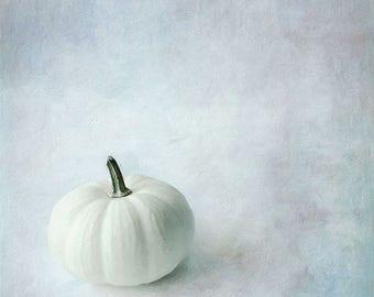 Fall Decor Printable, White Pumpkin Downloadable Print, Instant Download Printable Art, Printable Kitchen Art 8x10, Affordable Wall Art