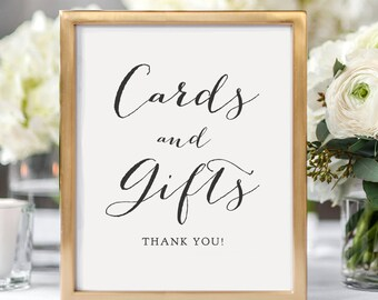 Cards and Gifts sign, Cards and Gifts printable sign, wedding signs, wedding printable, Gift table sign, 8x10, Sweet Bomb.