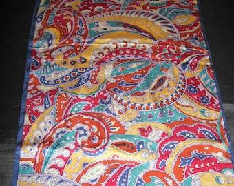 Paisley Scarf Silk, Vintage Scarves