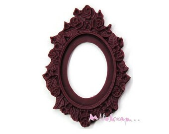 Set of 2 dark purple frames embellishment scrapbooking (ref.410) *.