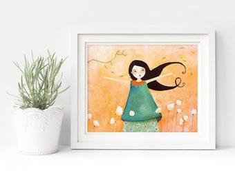 Princesse Mandarine - Deluxe Edition Print - Whimsical Art