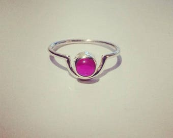 Fine Cyclone 925/1000 and Ruby ring.