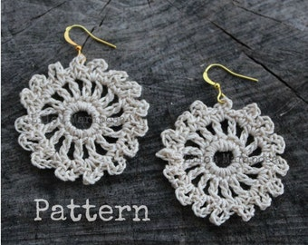 Crochet EARRINGS Pattern Crochet Pattern Crochet JEWELRY Pattern Vintage Style Crochet Lace Earrings Crochet Wedding Earrings Crochet Bridal