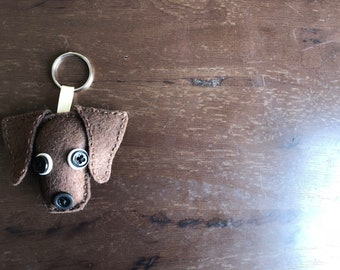 Chocolate Lab Keychain