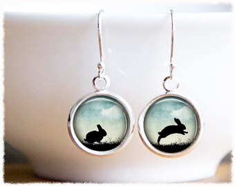 Rabbit Earrings • Bunny Jewelry • Bunny Earrings • Animal Lover Jewelry • Rabbit Gifts
