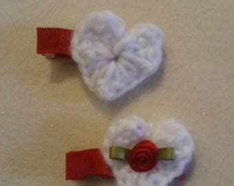 Valentine's heart clips