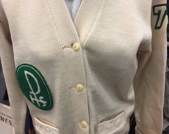 Vintage Letter Sweater from 1950's.  Could be late '40's.