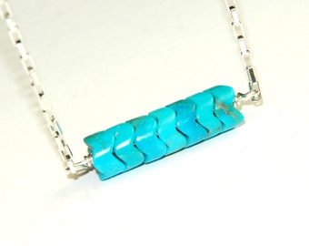 Turquoise Necklace - Blue Necklace - Genuine Turquoise - Natural Stone Jewelry - December Birthstone