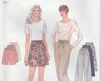 Easy Shorts Pattern Pants With Drawstring Loose Fitting Misses Size XS - S - M - L - XL uncut Simplicity 9435