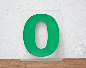 Marquee Letter O - Green Marquee Plastic Number 0 Sign Zero Vintage Marquee Sign