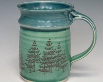 Evergreen mug in green
