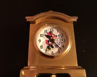 Minnie Mouse miniature mantel clock