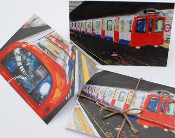 London Underground Greeting Cards