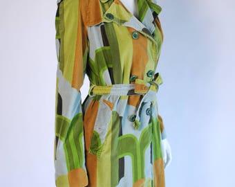Vintage Velvet Coat/ Green Velvet Jacket/ Long Sleeve Jacket/ Jackets for Women/ Womans Blazer/ Vintage Quilted Jacket 70s, 80s/ Wool Coat