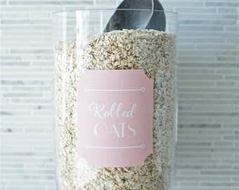 """Custom Printable Pantry/ Household Labels Pink """"Dollhouse Deco"""" Collection"""