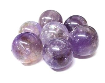 Small Amethyst Sphere- Amethyst Ball-- Round Amethyst Stone - Reiki - Metaphysical - Crafting - Crystal Grids -  RK64b12-01
