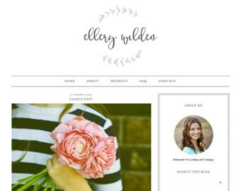 "Blogger Template, Blog Template, Mobile Responsive - ""Ellery| by Lindsey"" Instant Digital Download"