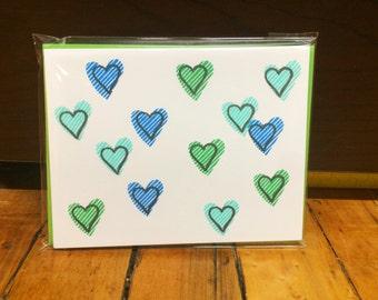Happy Hearts | Blue + Green