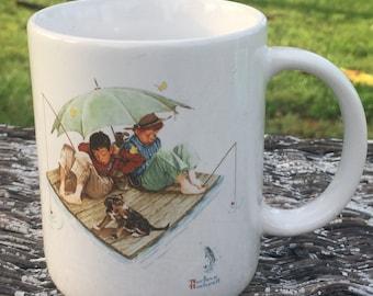 "1987 Norman Rockwell ""Fisherman's Paradise"" Mug"
