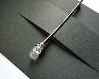 Aquamarine Bobby Pin - Natural Stone - Something Blue - Gemstone Bobby Pin