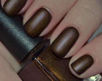 Dirty Dirty - Golden Brown Matte Nail Polish