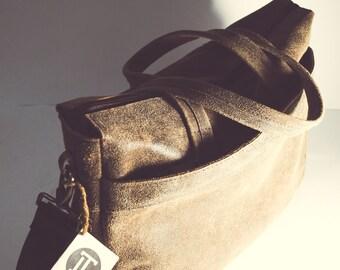 Leather messenger bag Leather briefcase Vintage leather bag Leather satchel Leather laptop bag College student gift Weekend bag bag for men