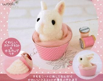 Cupcake Bunny Needle Felting Kit