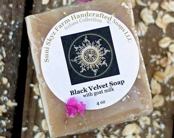 Black Velvet Soap - Irish Soap - Men's Soap - Soap For Men - Spa Soap - Goat Milk Soap - Natural Soap - Handmade Soap - Suni Skyz Farm Soap