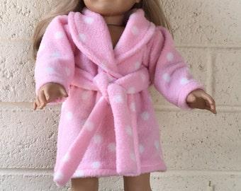18 inch Doll Robe - Fleece Doll Robe - 18 inch Doll Clothes - Bathrobe - Doll Spa Robe - Girl Doll Clothes - Girl Gift - Doll Robe - Robe