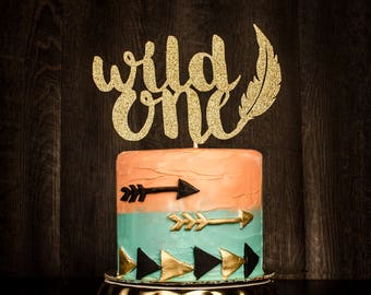 READY TO SHIP 2-3 business days, Wild One Cake topper, wild one, birthday decoration
