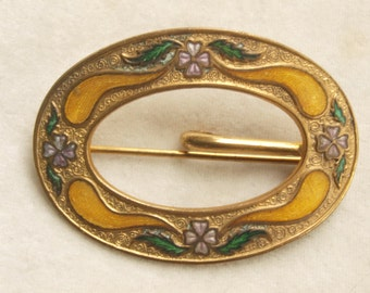 Victorian Enamelled Sash Pin