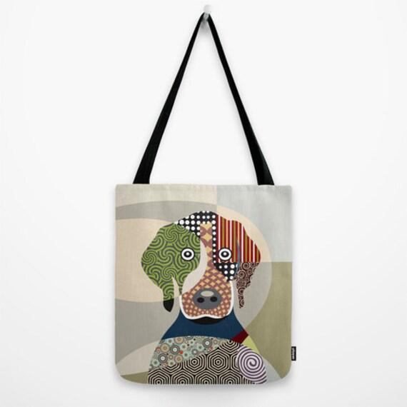 Beagle Gift, Dog Tote Bag, Animal Tote Bag, Dog Lover Gift Tote Bag, Animal Lover Gift, Colourful