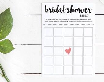 Black and White Bridal Shower Bingo #2