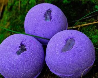 Amethyst Bath Bomb~Bath Bombs~Crystal Bath Bomb