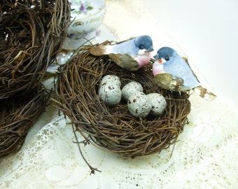 3- 4 inch Decorative Bird Nests Wedding Shower Floral Supplies