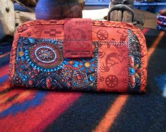 Wallet, cloth wallet, ladies wallet, southwestern wallet