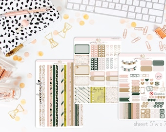 Champagne Bubbles HORIZONTAL Weekly Kit // 130+ Matte Planner Stickers // Perfect for your Erin Condren Life Planner // WKH0030
