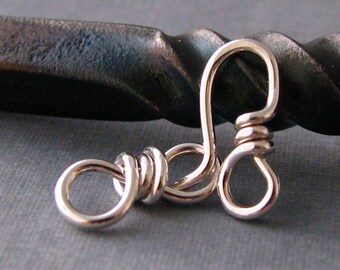 Silver Filled Small Hook and Eye Clasp Set 18g Handmade (OWC)