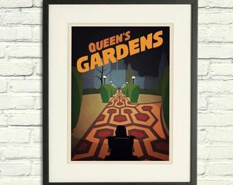 Queen's Gardens - A2 Poster Print