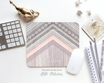 """Mouse Pad """"Cream Trails"""" by Iveta Abolina Mousepad Mouse Mat Wood Native Mouse Pad Office Mousemat Rectangular Mousemat Mousepad Round T190"""