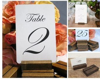 Table Number Holder + Rustic Table Number Holder (Set of 30) ON SALE