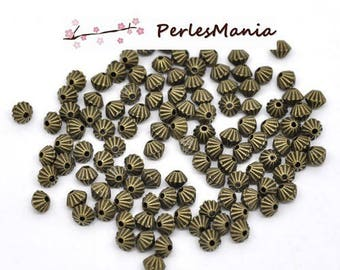 PAX 200 beads spacer beads 5 loops by 4mm BRONZE S114482