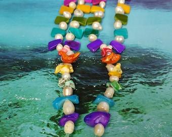 Rainbow shells barefoot sandal
