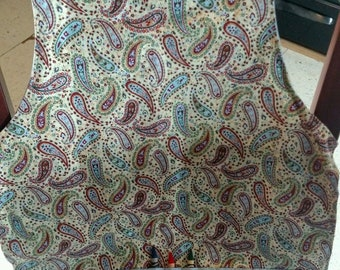 Crayon apron, kids apron, paisley apron, child's apron, craft apron