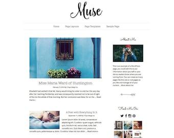 Minimalist Black and White Responsive Wordpress Blog Theme, Wordpress Template, Genesis Child Theme, Wordpress