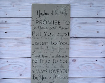 Husband and wife gift - Anniversary gift - Wedding gift - Wife gift - Husband gift - Wedding sign - Husband and wife - Gift for wife - Wood