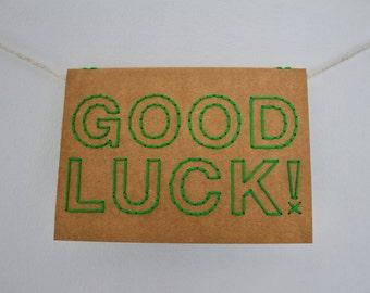 Good luck! | Hand sewn A6 card