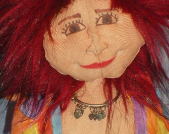 Hippie doll with orange dress