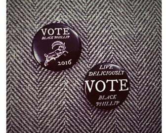 Vote Black Phillip 1-inch Pin Button Set