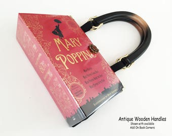 Mary Poppins Recycled Book Purse - Mary Poppins Book Clutch - Mary Poppins Book Cover Handbag - Bookish Gift - Mary Poppins Pocketbook